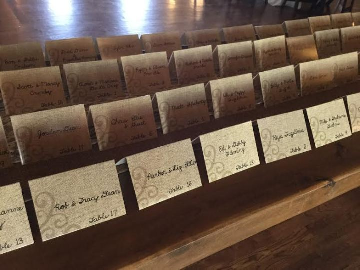 Bartlett-Vick escort cards